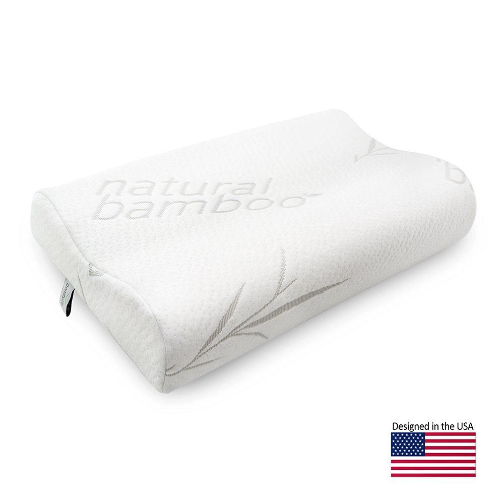Hypoallergenic Bamboo Memory Foam Contour Pillow Comfylife